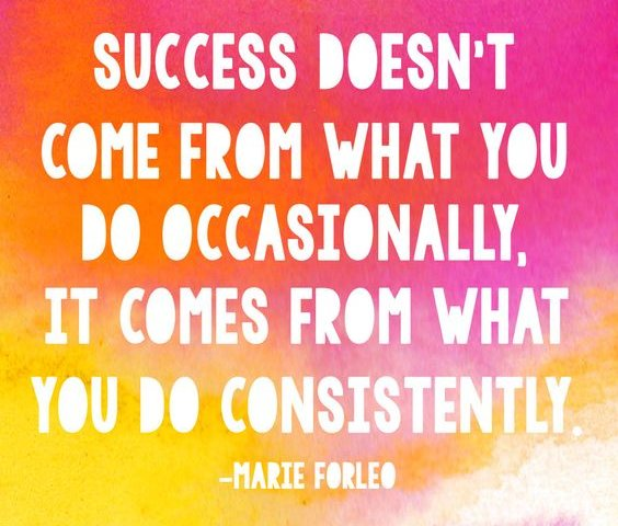 Motivational Quotes Consistency: Consistency Monday To Monday®